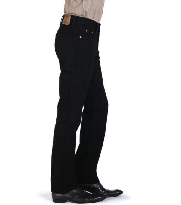Jeans chefdeville style droit vue coté