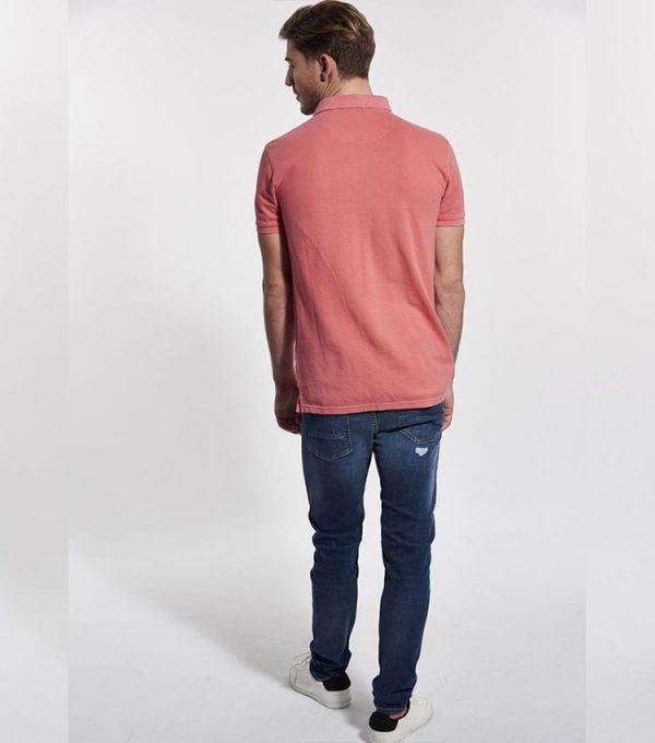 Jeans kaporal style skinny profil arrière