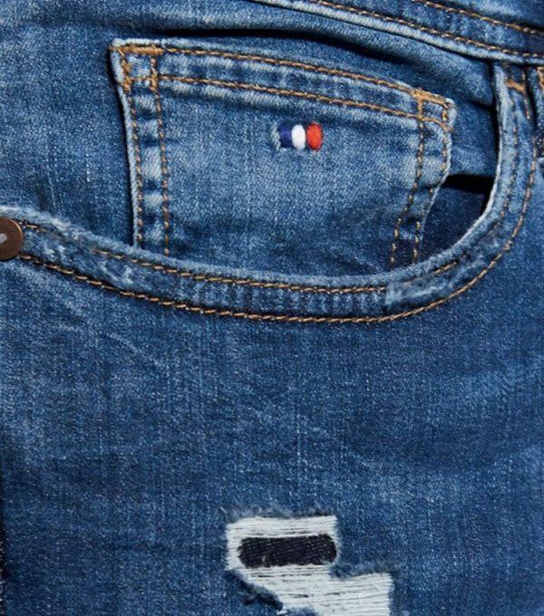 Jeans kaporal style skinny profil poche