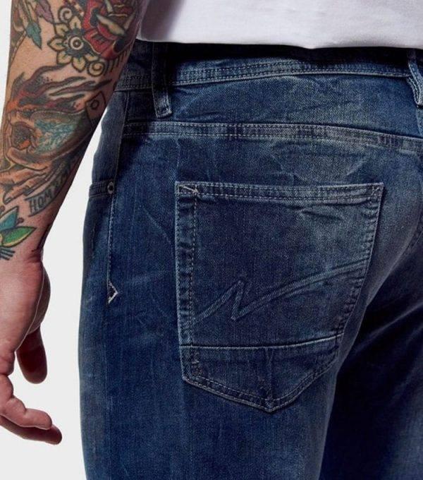 Jeans kaporal style straight profil arriere poche